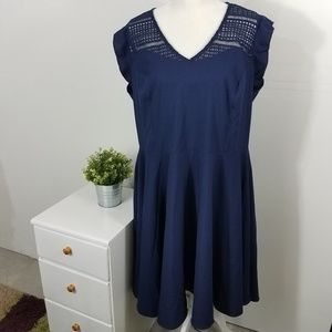City Chic Navy Blue First Place Dress Plus Size 18